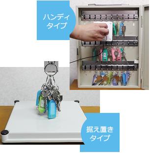 鍵管理システム「キーチェッカー」の2つのタイプ